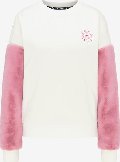 MYMO Sweatshirt in de kleur Rosa / Wit, Productweergave