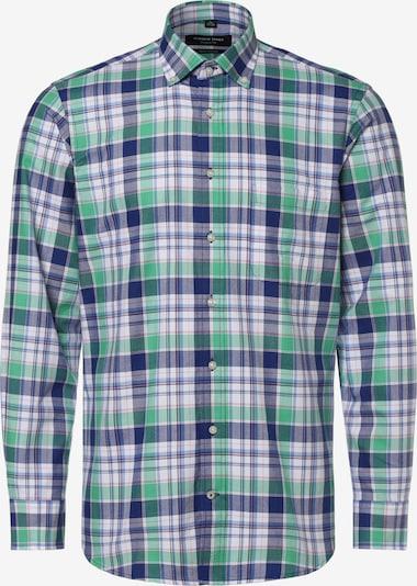 Andrew James Hemd ' ' in blau / grün, Produktansicht