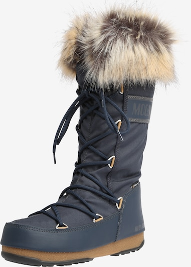 MOON BOOT Snowboots 'MOON BOOT MONACO WP 2' in de kleur Beige / Blauw denim, Productweergave