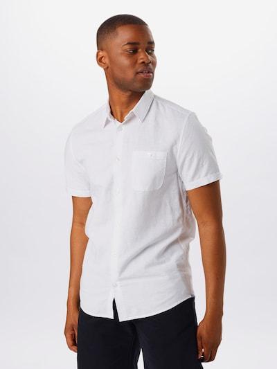 BURTON MENSWEAR LONDON Košeľa 'WHITE LINEN' - biela: Pohľad spredu