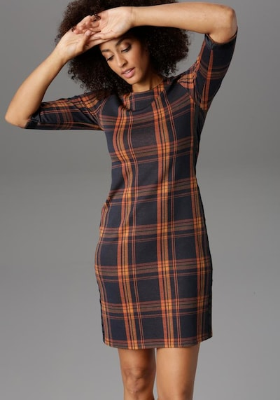 Aniston SELECTED Sheath Dress in Brown, View model