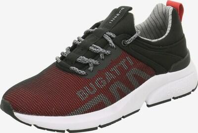 bugatti Schnürschuhe in grau / rot / schwarz / weiß, Produktansicht
