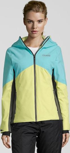 Colmar Sportjas 'SAPPORO' in de kleur Aqua / Geel, Productweergave