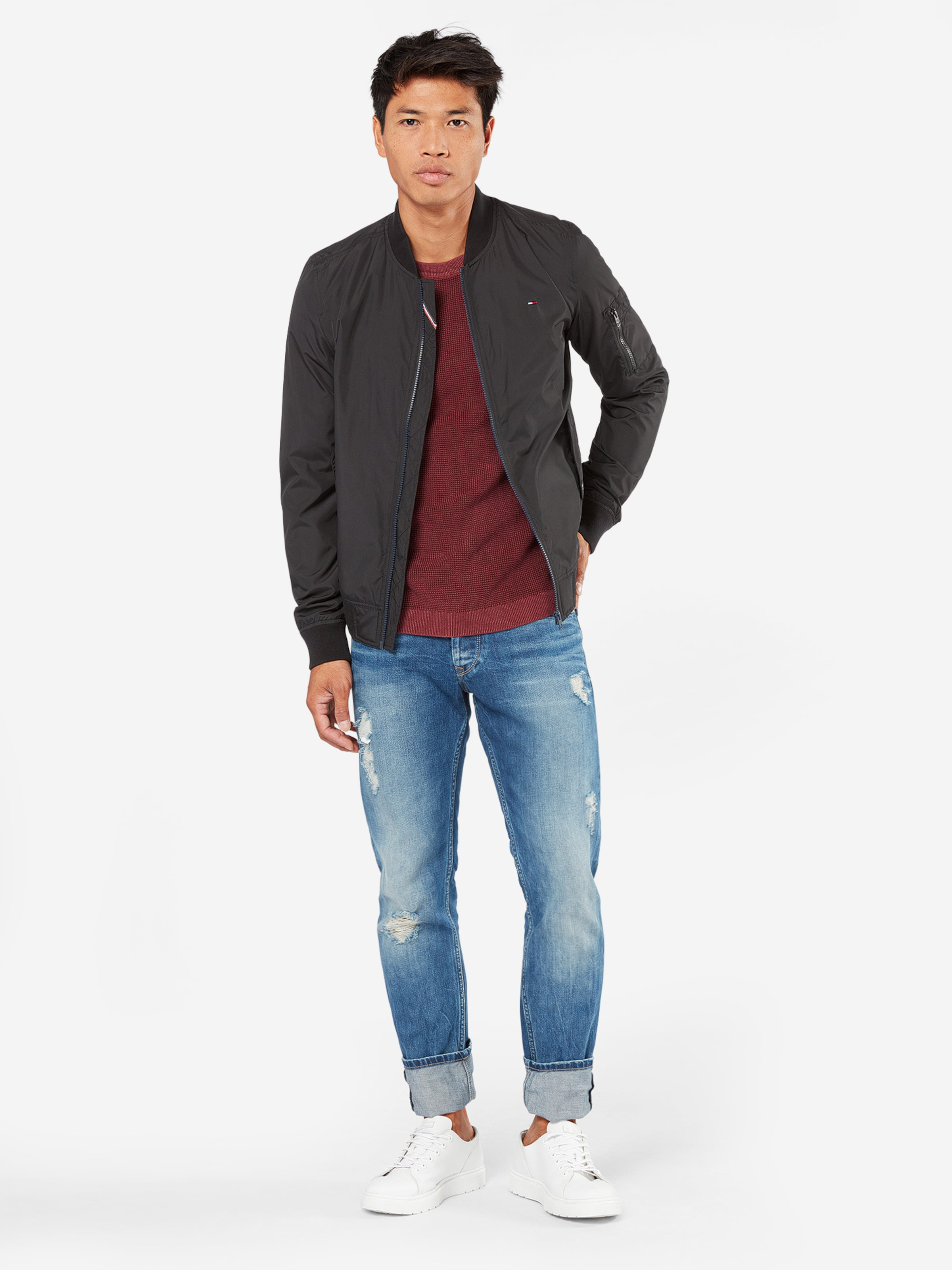 Tommy Jeans Pullover in Struktur-Strick Einkaufen Sammlungen Online uTQQ3i