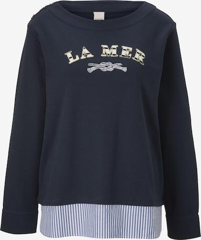 Bluză de molton heine pe marine / galben / alb, Vizualizare produs