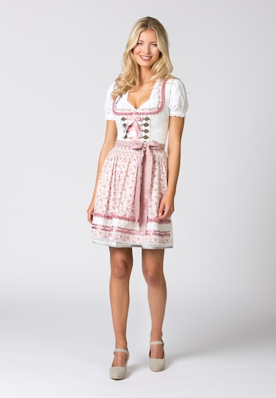 STOCKERPOINT Dirndl 'Dila' - pink / bílá, Model/ka