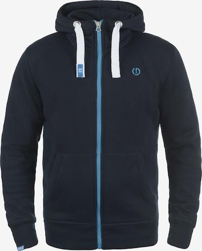 !Solid Kapuzensweatjacke 'Benn High-Neck' in blau / dunkelblau, Produktansicht
