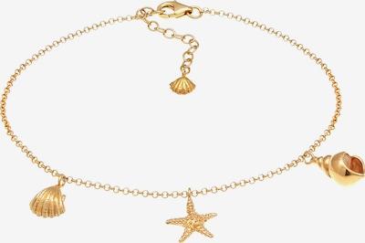 ELLI Fußschmuck Muschel, Seestern in gold, Produktansicht