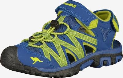 Pantofi deschiși KangaROOS pe albastru / măr, Vizualizare produs