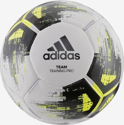 ADIDAS Fußball in gelb / schwarz / weiß: Frontalansicht
