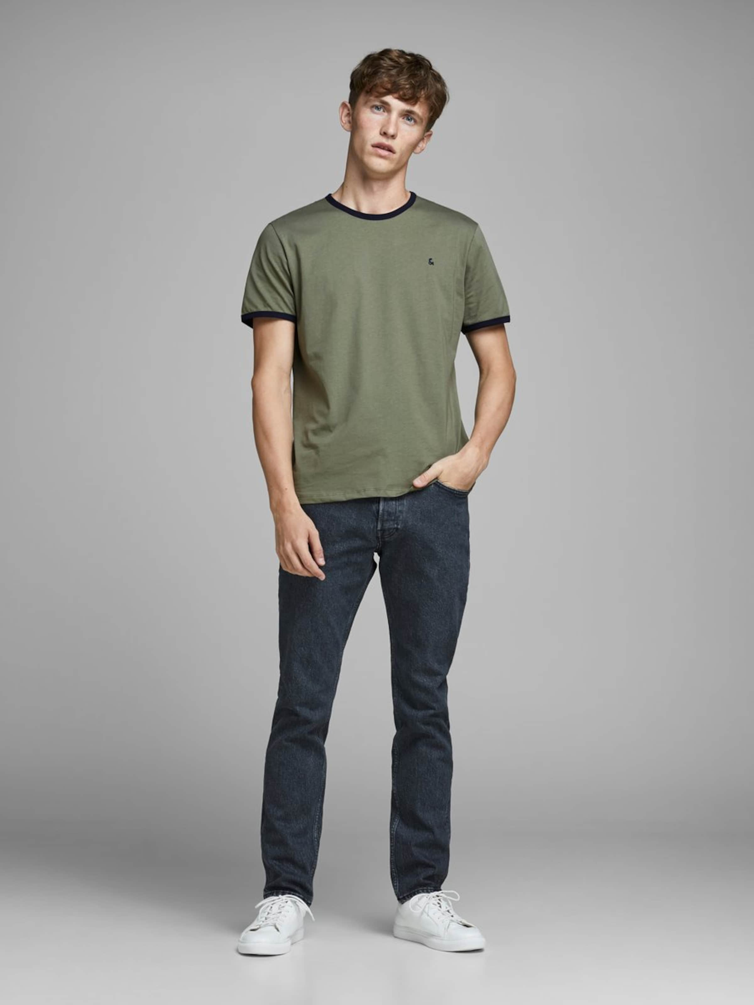 In Khaki shirt Jones T Jackamp; Kontrastdetail 1clFKJ