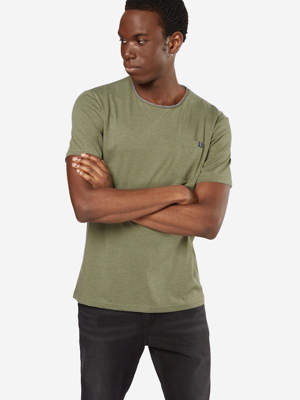 TOM TAILOR T-Shirt in Melange-Optik