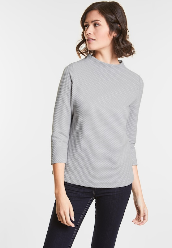 STREET ONE Turtle-Neck Pulli mit Muster