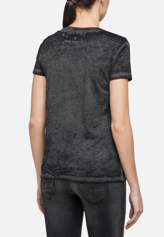 REPLAY T-Shirt mit Paillettenapplikationen