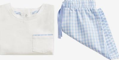 MANGO KIDS Piżama 'LOLO' w kolorze jasnoniebieski / białym, Podgląd produktu