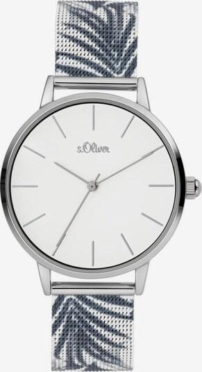 s.Oliver Quarzuhr »SO-3977-MQ« in grau / graumeliert / silber / weiß, Produktansicht