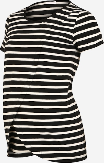 MAMALICIOUS Tričko 'MLOLINA IRIS' - čierna / biela: Pohľad spredu