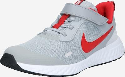 NIKE Sportschuhe 'Revolution' in grau / rot / weiß, Produktansicht