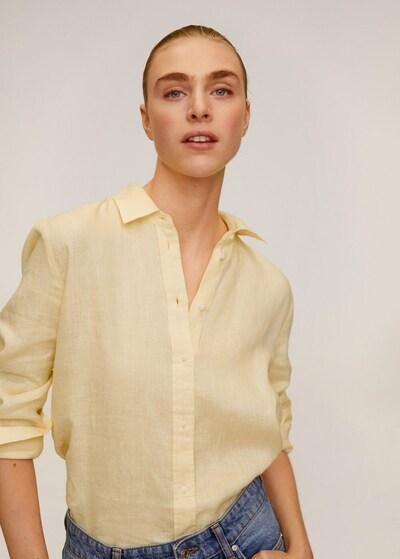 MANGO Hemd 'Lino' in pastellgelb, Modelansicht