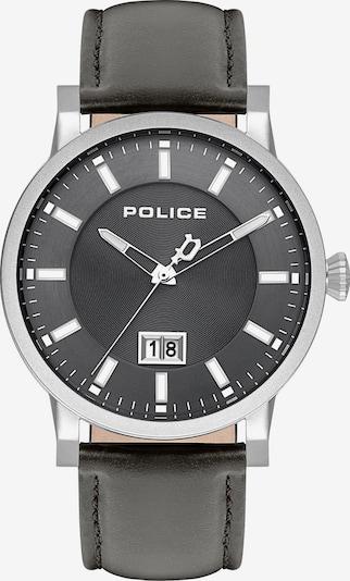 POLICE Uhr in basaltgrau / schwarz / silber, Produktansicht