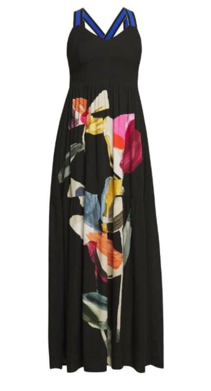 Desigual Kleid 'Vest Lisboa' in gelb / grün / pink ...