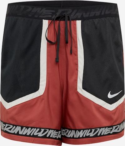 NIKE Sporthose 'Flex Stride Wild Run' in rot / schwarz / weiß, Produktansicht