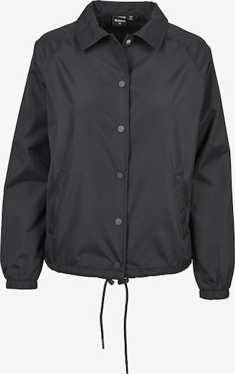 Urban Classics Coach Jacket in schwarz: Frontalansicht