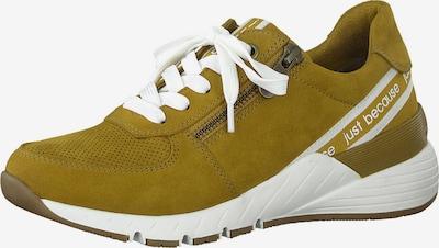 mustár / fehér MARCO TOZZI Rövid szárú edzőcipők, Termék nézet