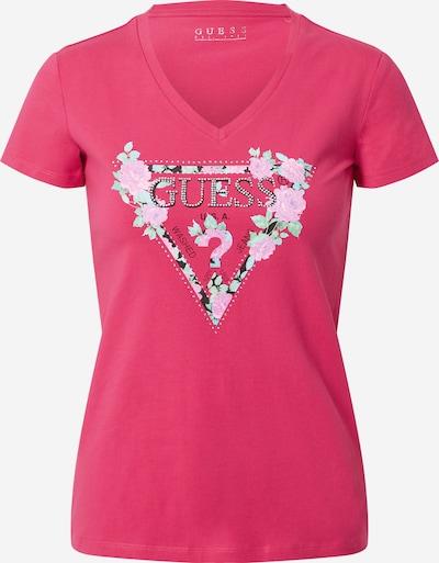 GUESS Shirt 'Britney' in de kleur Gemengde kleuren / Pink, Productweergave