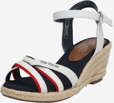 TOM TAILOR Sandalen met riem in de kleur Lichtrood / Wit, Productweergave