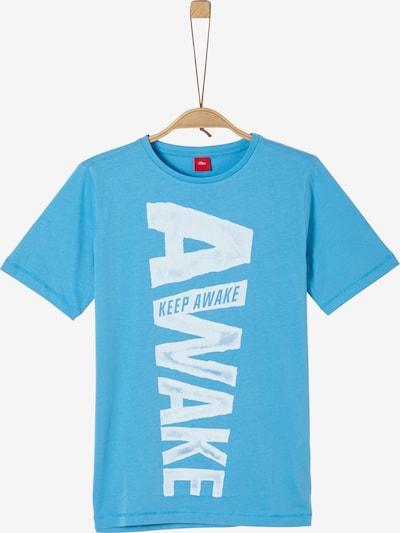 s.Oliver T-Shirt in blau / weiß: Frontalansicht
