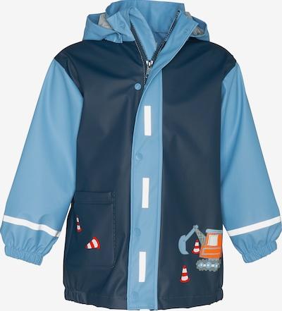 PLAYSHOES Regenmantel 'Baustelle' in navy / hellblau / orange / rot / weiß, Produktansicht