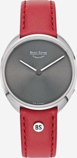 Bruno Söhnle Uhr in anthrazit / rot / silber, Produktansicht