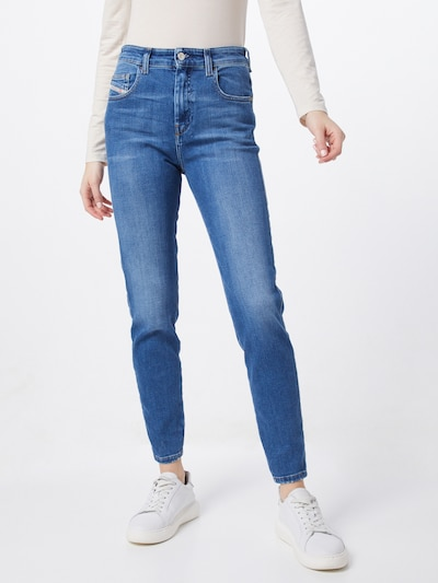 DIESEL Jean 'D-SLANDY-HIGH' en bleu denim, Vue avec modèle