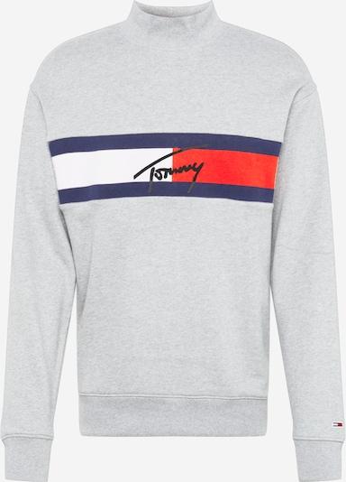 Megztinis be užsegimo iš Tommy Jeans , spalva - tamsiai mėlyna / šviesiai pilka / raudona, Prekių apžvalga