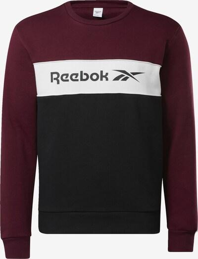 REEBOK Sweatshirt in weinrot / schwarz / weiß, Produktansicht