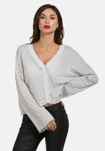 faina Strickjacke in weiß, Modelansicht