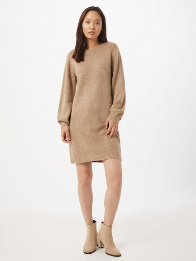 OBJECT Knit dress in Light brown, View model
