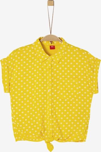 s.Oliver Bluse in gelb / weiß, Produktansicht