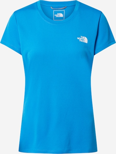 THE NORTH FACE Sport-Shirt 'Reaxion' in blau / weiß, Produktansicht