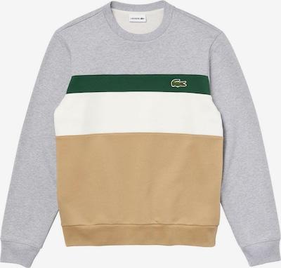 LACOSTE Sweatshirt in hellbraun / hellgrau / grün / weiß, Produktansicht