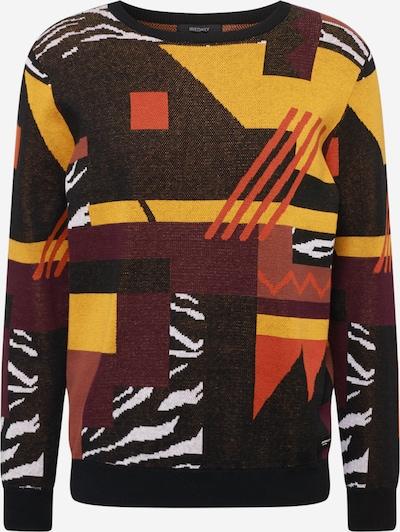 Iriedaily Trui 'Crazy' in de kleur Donkerbruin / Gemengde kleuren, Productweergave