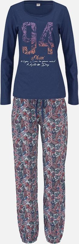 s.Oliver RED LABEL Pyjama mit mehrfarbigem Paisleymuster