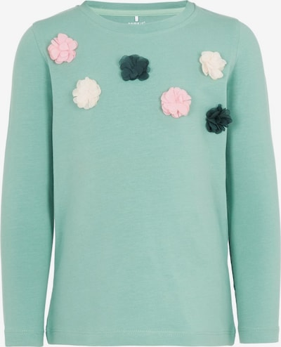 NAME IT Shirt 'NMFNANNA LS TOP' in mint / mischfarben, Produktansicht