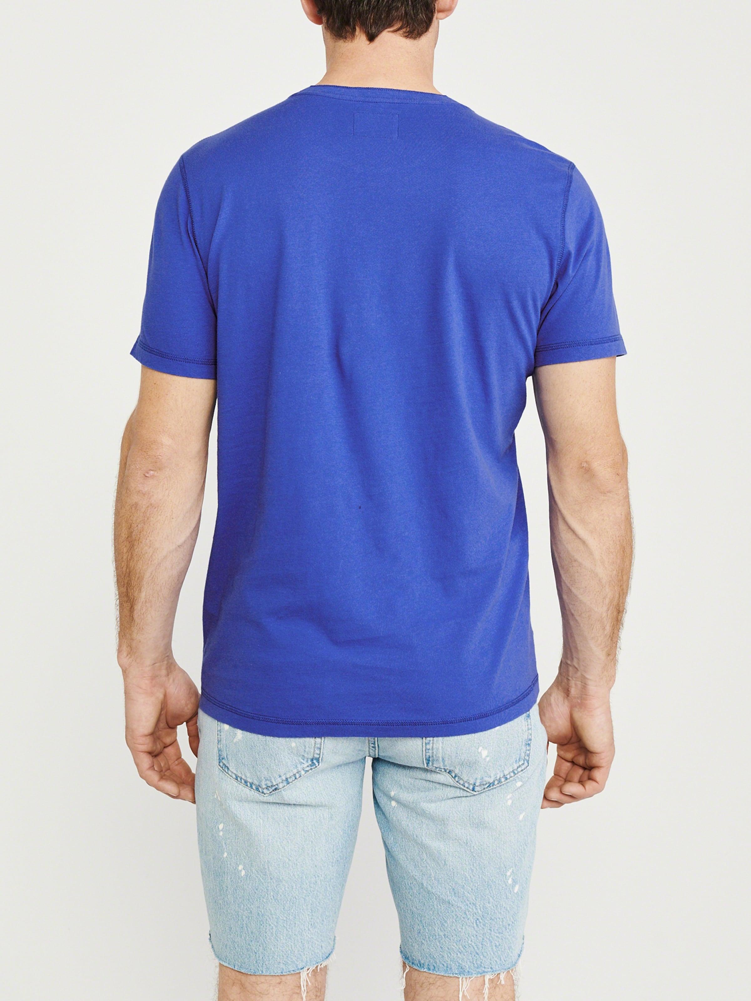 Henley' 'ss Abercrombieamp; T En Bleu shirt Fitch TKuF135lcJ