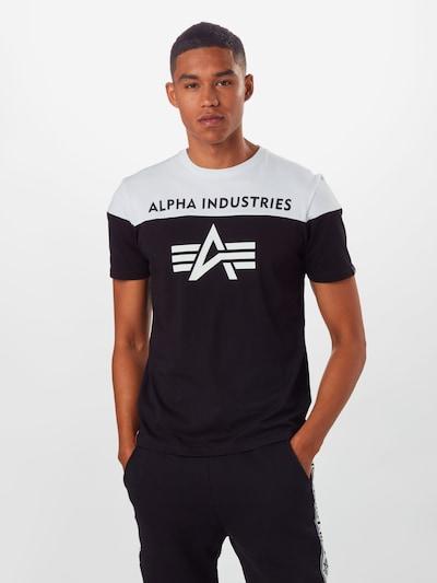 ALPHA INDUSTRIES Shirt in schwarz / weiß: Frontalansicht