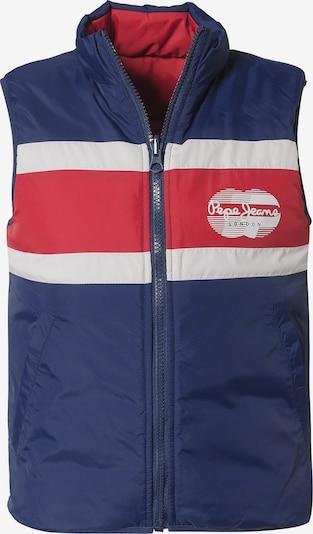 Pepe Jeans Bodywarmer 'Devon' in de kleur Navy / Rood / Wit, Productweergave