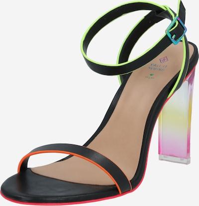 CALL IT SPRING Sandale 'HAYVENN' in nude / neongelb / neonorange / schwarz / transparent, Produktansicht