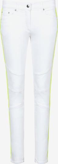 Sportalm Kitzbühel Jeans mit dekorativen Steppungen in neongrün / weiß, Produktansicht