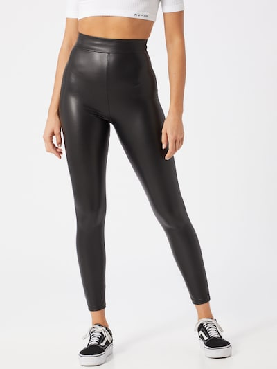 Miss Selfridge Leggings 'LEATHER LOOK' in schwarz, Modelansicht